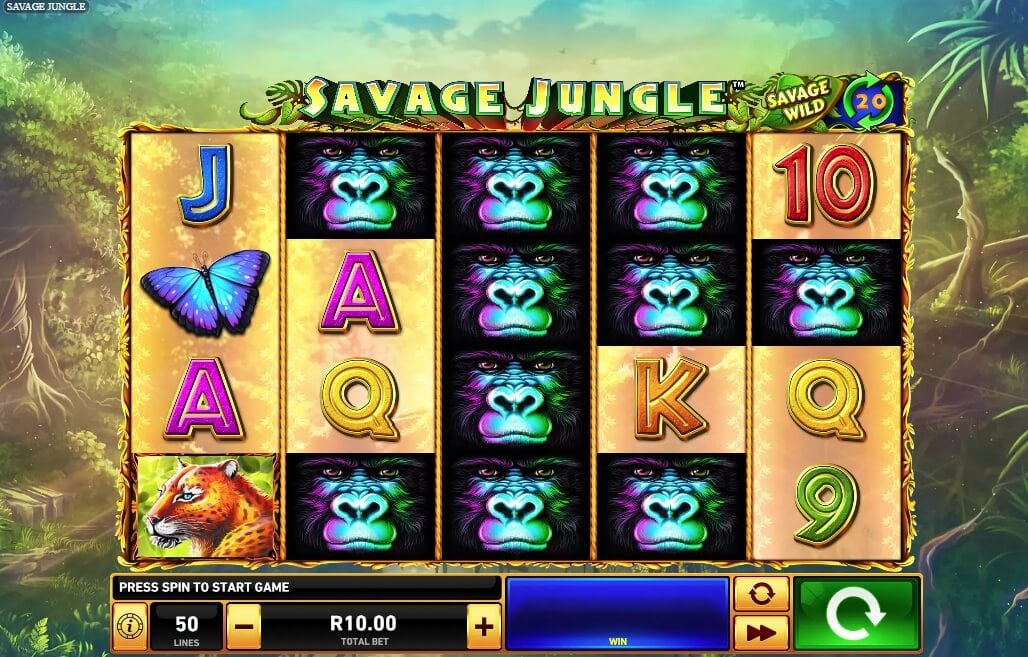 Savage Jungle is a New Video Slot Game from Playtech