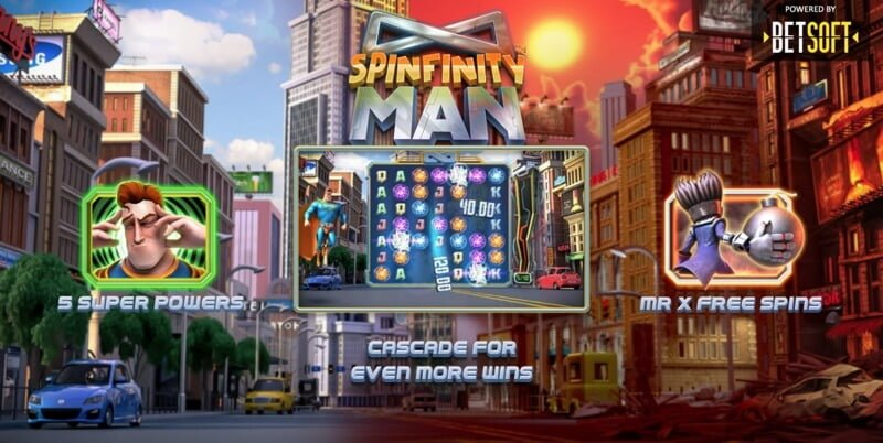 Spinfinity Man is a New Slot Game Release from Betsoft