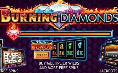 Burning Diamonds is a Hot New High Volatility Slot by Kalamba Games