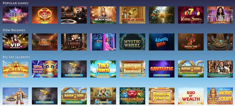 Casino Gods Slot Games