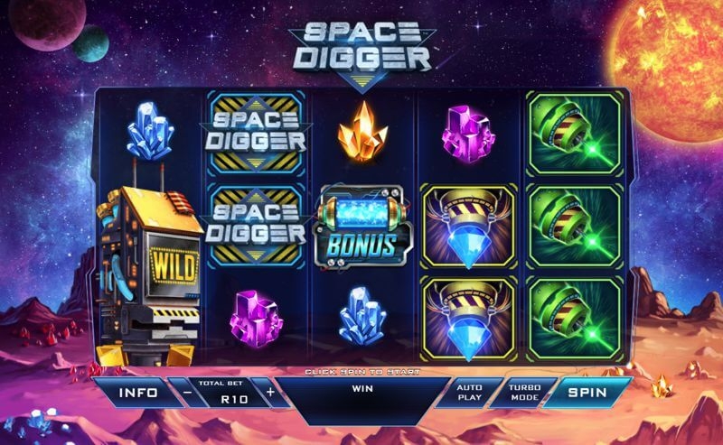 Space Digger Video Slot Game