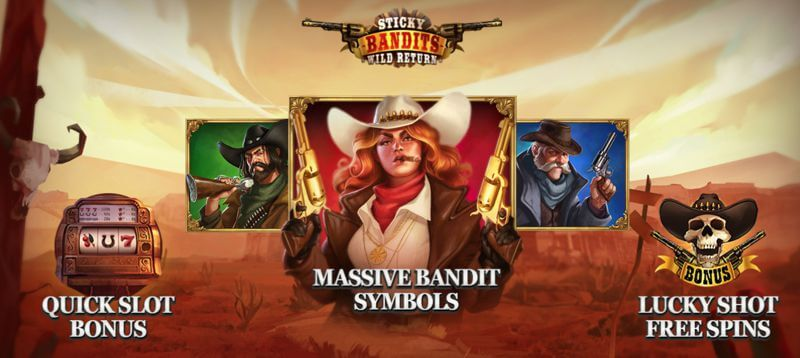 Sticky Bandits: Wild Return is a New Slot Release from Play'nGO