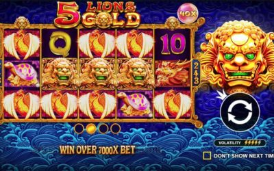 5 Lions Gold is a New Chinese Themed Slot from Pragmatic Play