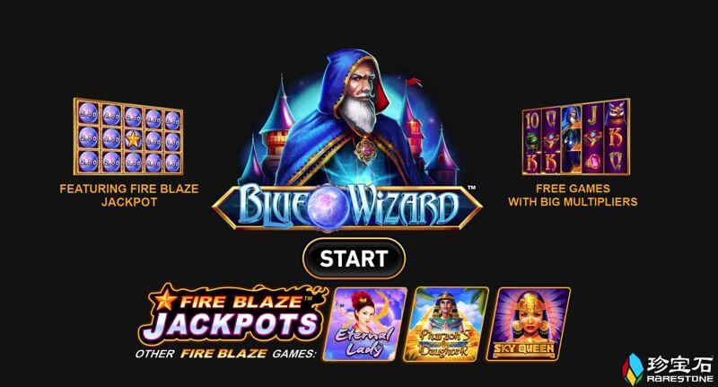 Blue Wizard is a New Slot Game from Rarestone Gaming