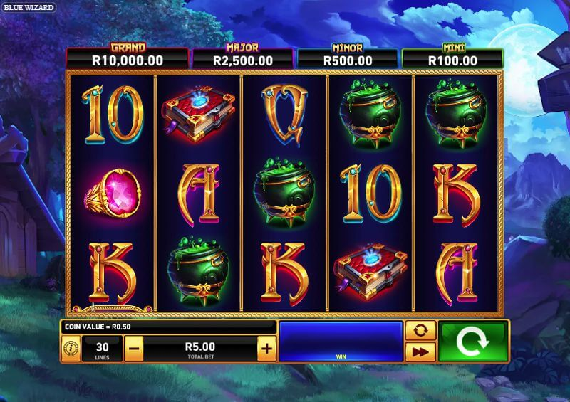 Blue Wizard Video Slot Game