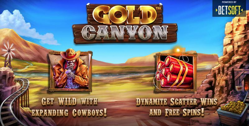 Gold Canyon Video Slot Game from BetSoft Gaming