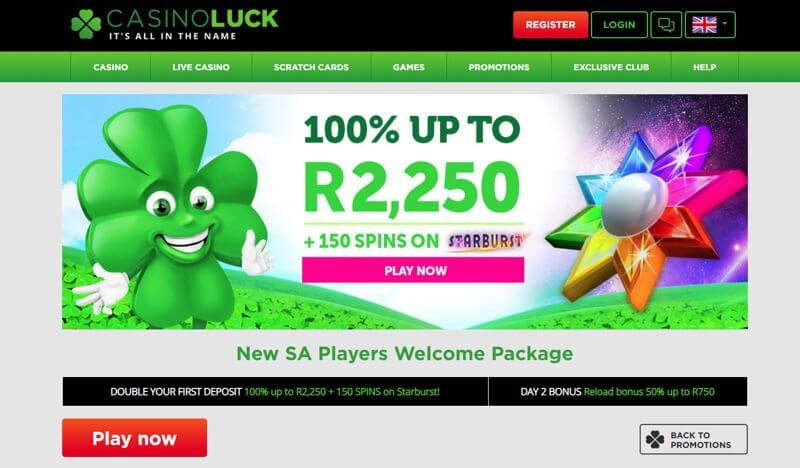 CasinoLuck SA Website