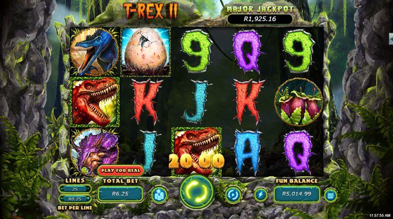 T-Rex II Video Slot Game