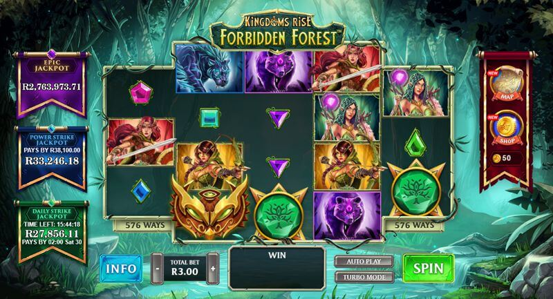 Kingdoms Rise Forbidden Forest Video Slot Game