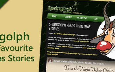 Springolph the Red Nosed Springbok Reads Christmas Stories