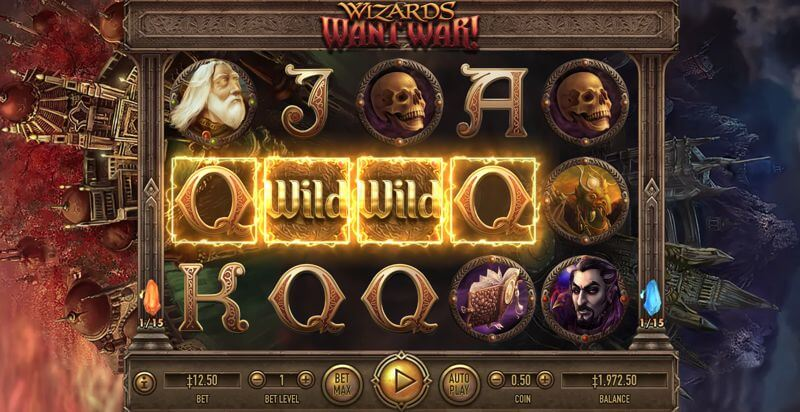 Wizards Want War! Video Slot Game