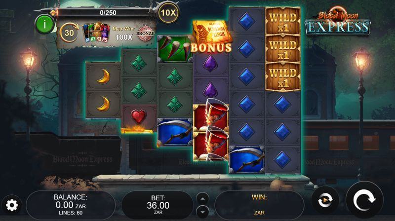 Blood Moon Express Video Slot Game