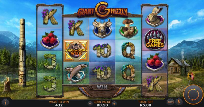 Giant Grizzly Video Slot Game
