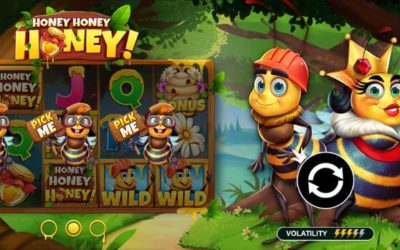Honey Honey Honey is a sticky new slot game from Pragmatic Play