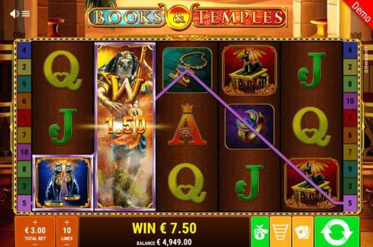 Books & Temples Video Slot Game
