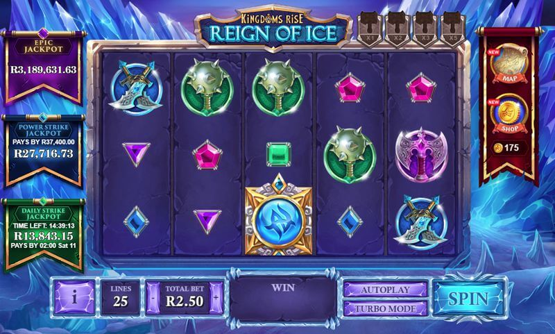 Kingdoms Rise Reign of Ice Slot Game