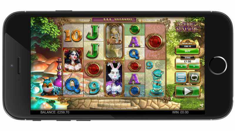 White Rabbit Mobile Slot View