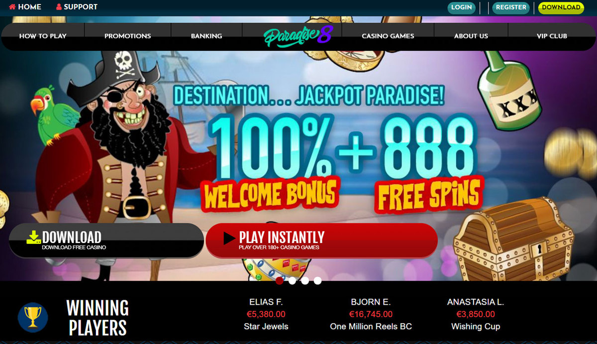 Paradise 8 Casino Review