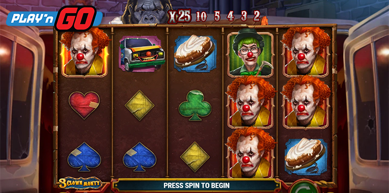 3 Clown Monty Online Slot By Play'n GO