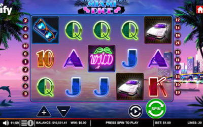 Miami Dice Online Slot By Saucify