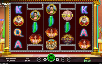 Legend Of Helios – Online Slot By Realtime Gaming